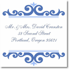Name Doodles - Square Address Labels/Stickers (Norfolk Blue)
